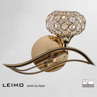 Diyas IL30961-R Leimo French Gold Wall Light