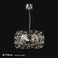 Diyas IL30792 Atria Chrome 4 Light Ceiling Pendant