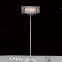 Diyas IL30576 Fabio Chrome & Crystal Floor Lamp