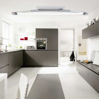 endon el 10085 twin fluorescent ceiling light polished chrome - Kitchen Lights Uk