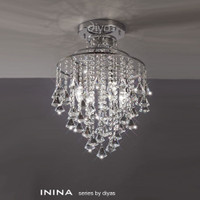 Diyas IL30770 Inina 4 Light Modern Crystal Chandelier