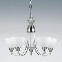 Endon 1805-5SC 5 Light Pendant Satin Chrome