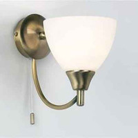 Endon 1805-1AN 1 Light Antique Brass Wall Light