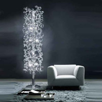 Metallux Astro 206.760.01 10 Light Clear Crystal Floor Lamp