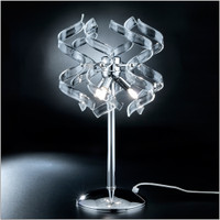Metallux Astro 206.123.01 3 Light Clear Crystal Table Lamp
