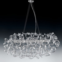 Metallux Astro 206.520.01 6 Light Crystal Clear Oval Pendant