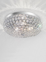 Franklite FL2275/3 Marquesa Chrome Crystal Flush