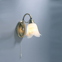 Dar DOU0775 Doublet Single Wall light ANTIQUE BRASS