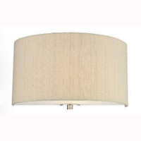 Dar REN0741 Renoir Wall Light With Sea Mist Gold Silk Shade
