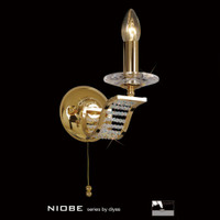 Diyas IL30441 Niobe 1 Light Gold Crystal Wall Light