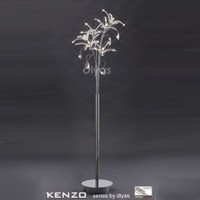 Diyas IL30883 Kenzo 6 Light Polished Chrome Crystal Floor Lamp