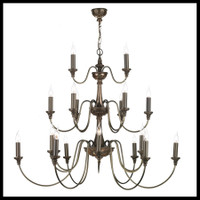 DAR BAI2163 Bailey 21 Light Bronze Chandelier