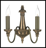 DAR BAI0963 Bailey 2 LightWall Light Bronze