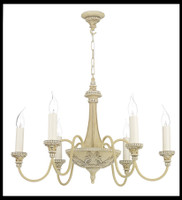 DAR BAI0645 Bailey 6 light Chandelier Antique Cream