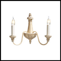 DAR BAI0945 Bailey Wall Light Antique Cream