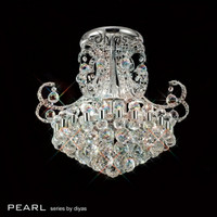 Diyas IL30026 Pearl 9 Light Polished Chrome / Crystal Ceiling Light