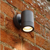 Down Only Grade 304 1mm Black Outdoor Wall Light