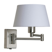 Armada Double Swing Arm Satin Nickel Wall Light