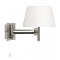 Finlay Double Arm Satin Nickel Wall Light