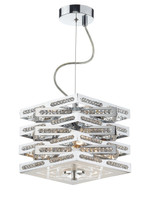 Dar CUB0350 Cube 3 Light Chrome & Crystal Ceiling Pendant