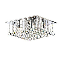 Dar ABA5050 Abacus 5 Light Polished Chrome Ceiling Light
