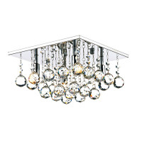 Dar ABA5250 Abacus 4 Light Polished Chrome Ceiling Light