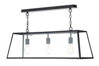 Dar ACA0322 Academy 3 Light Black Pendant