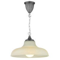 Dar BAD0167 Badger 1 Light Pewter Ceiling Pendant