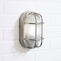 Dar SAL5244 Salcombe Staineless Steel Oval Wall Light