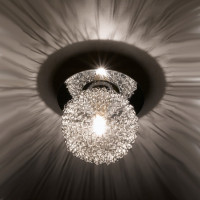 Meshball 1 Light Chrome Ceiling Light