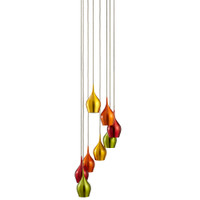 Searchlight 6468-8 Vibrant 8 Light Pendant Multi Coloured