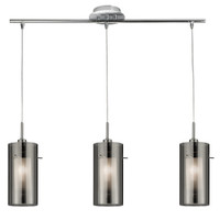 Searchlight 3303-3SM Duo 2 3 Light Ceiling Pendant Polished Chrome