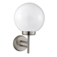 Searchlight 075 Globe Outdoor Wall Light Stainless Steel