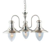 Searchlight 5333-3SS Fisherman 3 Light Satin Silver Ceiling Light