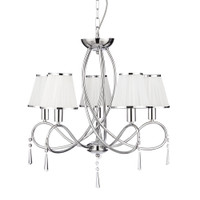 Searchlight 1035-5CC Simplicity 5 Arm Chrome Ceiling Pendant