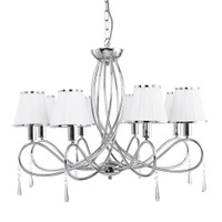 Searchlight 1038-8CC Simplicity 8 Arm Chrome Ceiling Pendant