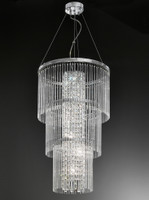 Franklite FL2310/6 Charisma 6 Light Crystal Ceiling Pendant Chrome