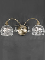 Franklite FL2296/2 Jura 2 Light Wall Light Antique Brass