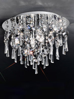 Franklite CF5716 Jazzy 4 Light Crystal Ceiling Light Chrome