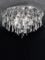 Franklite CF5717 Jazzy 5 Light Crystal Ceiling Light Chrome