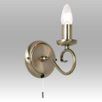 Endon 180-1AN 1 Light Antique Brass Wall Light