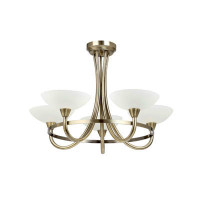 Endon CAGNEY-5AB Cagney 5 Light Ceiling Light Antique Brass
