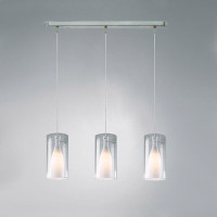 Dar BOD0346 Boda 3 Light Ceiling Pendant Satin Nickel