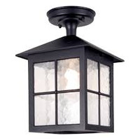 Elstead BL18A Winchester 1 Light Black Ceiling Lantern