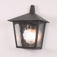 Elstead BL15 York 1 Light Half Lantern Black