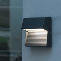 Lutec UT/RADIUS SQ LED Wall Light Graphite finish
