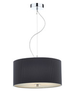 Dar ZAR1039 Zaragoza 3 Light 40cm Grey Ceiling Pendant