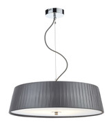Dar WHE0339 Wheel 3 Light Pendant With Grey Shade