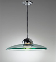 dar hem8650 hemisphere 1 light ceiling pendant polished chrome - Kitchen Lights Uk