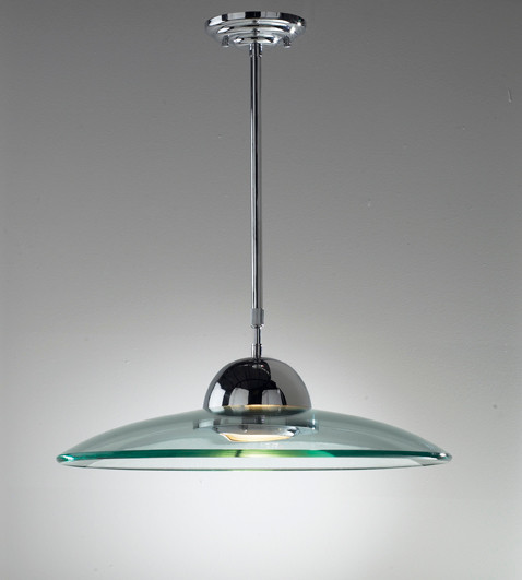 Dar HEM8650 Hemisphere 1 Light Ceiling Pendant Polished
